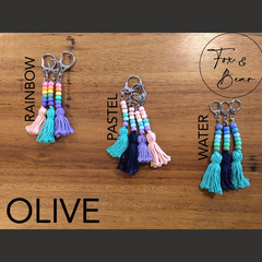 Colourful keychain. Design OLIVE