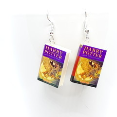 Miniature Book dangle earrings, Harry Potter book Prisoner of Azkaban