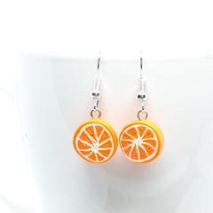 Miniature Orange dangle earrings