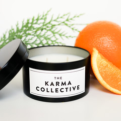 Spiced Orange & Cedarleaf Scented Soy Candle Tin
