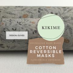 Reversible Face Mask Design: Olives