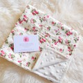 "Baby minky ""everywhere"" blanky - rose floral"