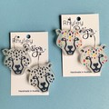 Statement Snow or Rainbow Leopard Earrings