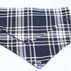 Dog Bandana - Tartan, Dog Neckerchief, Dog Tie Up Bandana, Dog Scarf, Puppy