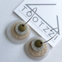 TEXTURE Hoops (Quartz + Beige + Sand) Stackable Statement Dangles