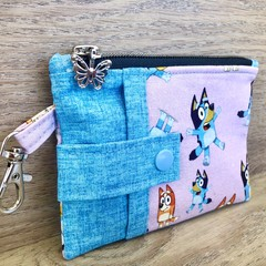 Bluey Zippered Coin Purse - Butterfly Zipper Charm