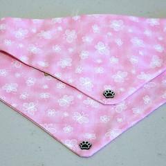 Dog Bandana - Butterflies, Dog Neckerchief, Dog Tie Up Bandana, Dog Scarf, Puppy