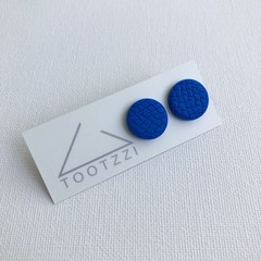"""Cobalt"" Lobe Lollies - Textured Mini Studs"