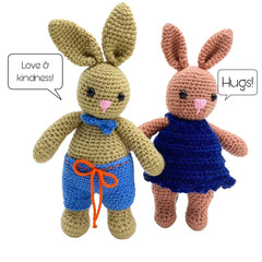 Choose Ushi or Mei Bunny  - from the Red George cuddle crew