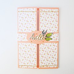 3D Friendship Card, Hello Friend Card, Pink Floral Card