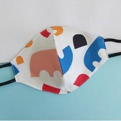 Fabric face mask - reversible Shapes