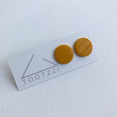 """Mustard"" Lobe Lollies - Textured Mini Studs"