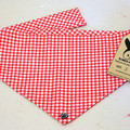 Dog Bandana - Picnic Plaid, Dog Neckerchief, Dog Tie Up Bandana, Dog Scarf, Pup