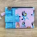 Bluey Zippered Coin Purse - Butterfly Zipper Charm