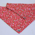 Dog Bandana - Strawberry Fields, Dog Neckerchief, Dog Tie Up Bandana, Dog Scarf