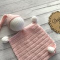 Crochet lovey toy, Snuggly comforter, Crochet Softies, Knitted toy