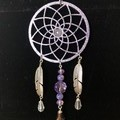 Wood & Stone Feather Dreamcatcher 7cm (3x available)