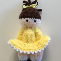 Trixie-  Hand Knitted Doll