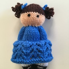 Layla- Hand Knitted Doll