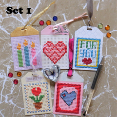 Cross Stitch Gift Tags Sets