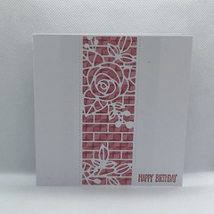 Rose Brick Wall Birthday Card