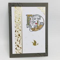 Inspiration Card - Faith, Fear Not text