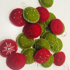 READY TO SHIP felt Christmas decoration hanging gift red white grey green