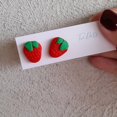 Strawberry earrings - large