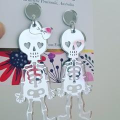 Mr & Mrs Bones - Acrylic Dangle Earrings