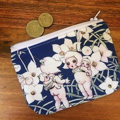 Coin purse - Flannel Flowers Midnight