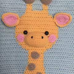 Giraffe Wall Hanging: READY TO POST, Baby Nursery DecoratIon