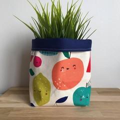 Small fabric planter | Storage basket | HAPPY FRUIT