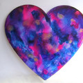 RESIN WALL ART HEART Wispy Ink Theme ORDER FORM