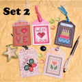 Six Cross Stitch Gift Tags Sets