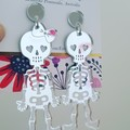Mr & Mrs Bones - Acrylic Dangle Earrings