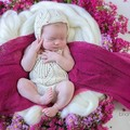 Knitted Tulip Romper, Baby Girls Playsuit, Size 0000 000