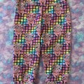 Rainbow piggies girls kids size 6 Capri (3/4 length) leggings