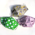 Face Masks - Cotton Fabric * Double layer / filter pocket * Plain & Bright