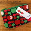 Apple:  Earring & Coin Purse Gift Set