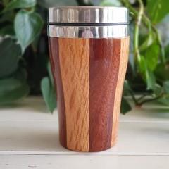 Wooden travel mug, Wooden coffee mug, Keep cup, Gift for him, Xmas Gift