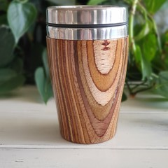 Wooden travel mug, Wooden coffee mug, Keep cup, Gift for her, Father'sday gift,