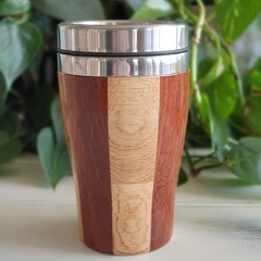 Wooden travel mug, Wooden coffee mug, Keep cup,  Coffee cup, Father's Day gift