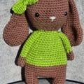 """"""" Lilly """" The Crochet Bunny Lady, Bunny Amigurumi"""