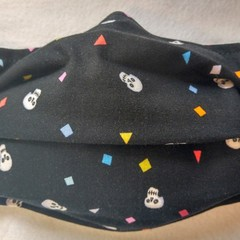Skull Confetti facemask: full coverage convertible mask with removable filter