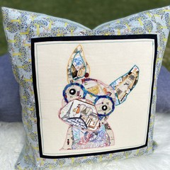 """""""Fran""""the Frenchie Woodland Cushion Cover"""