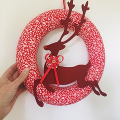 READY TO SHIP door wreath rudolf reindeer Christmas