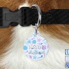 Large Double Sided Pet ID Tag, Under the Sea, Mermaid, Dog tag, Cat tag, Persona