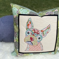 """""""Fran""""the Frenchie Succulent Cushion Cover"""