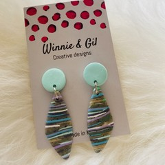 Pastel and grey dangles