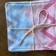 Every Day Resuable Wipes- Small Multi Chevron